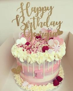 Georgia's 1st birthday cake.