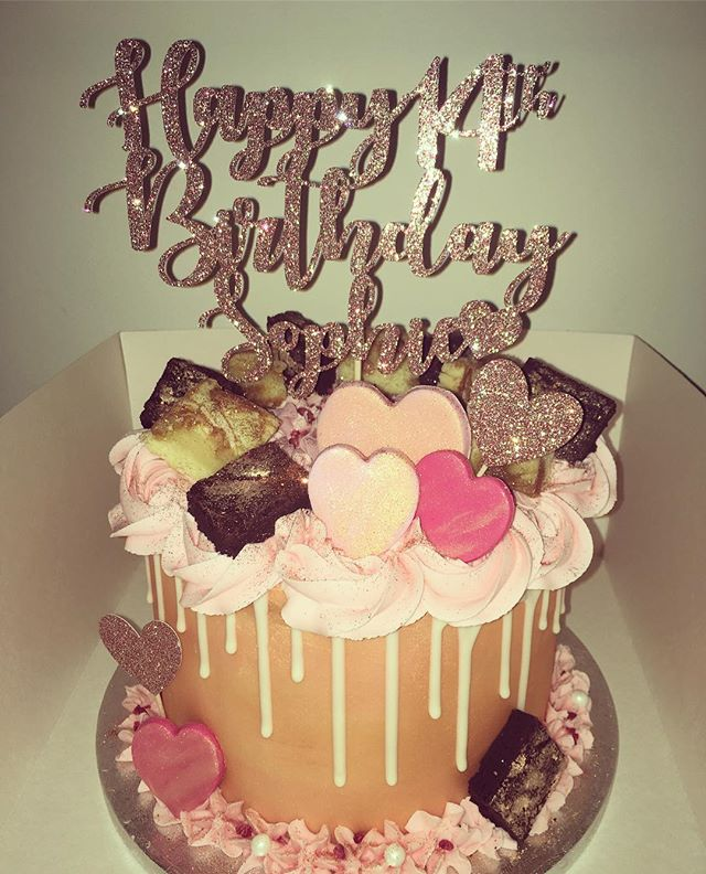 ROSE GOLD cake for Sophie's birthday 😍�