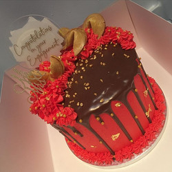 Chinese new year themed engagement cake.