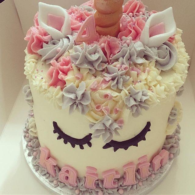 Pink & purple unicorn cake for Kaitlin's