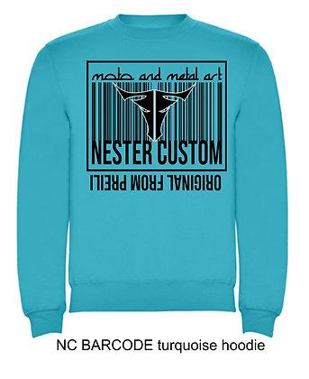 NC BARCODE woman hoodie
