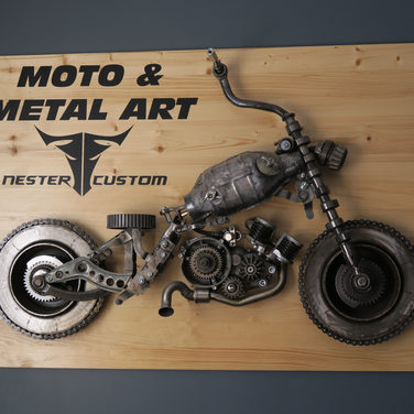 MOTORCYCLIST SOUL IN A SCULPTURE