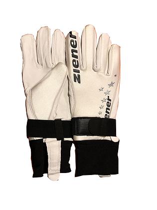 Ziener Skisprung-Handschuh white-black / Jumping Gloves