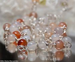 Earthtone glass beads