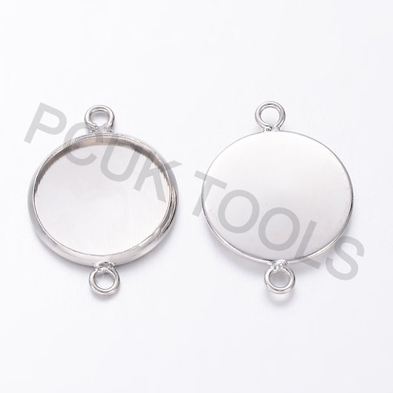Round Cabochon Connector Setting - Set of 21
