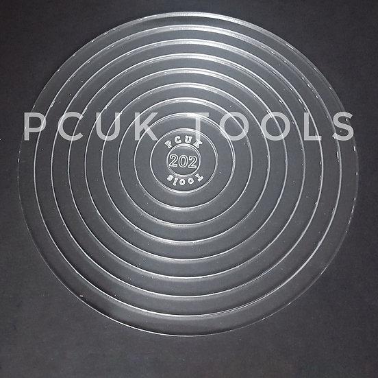 Staggered Stencil Circle Acrylic Stencil/Template