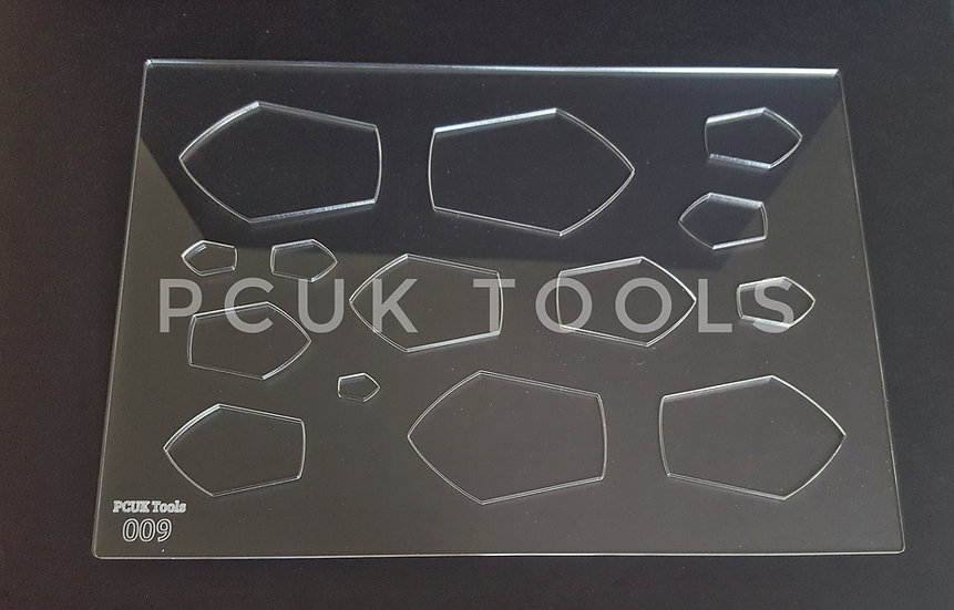 PCUK Tools 009 ClearA4 Stencil/Template
