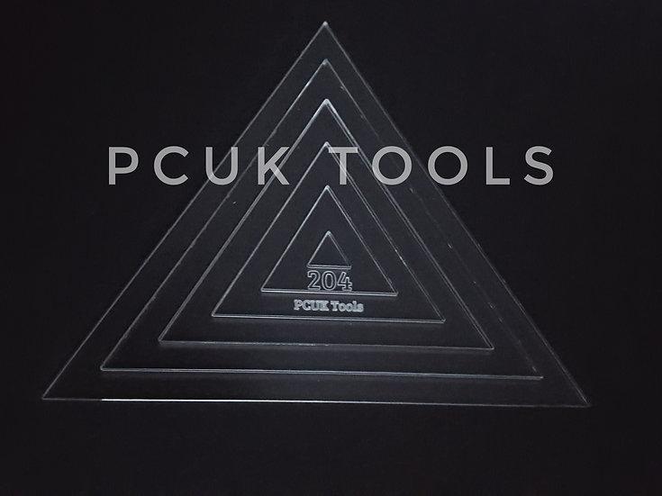 Staggered Stencil Triangle Acrylic Stencil/Template