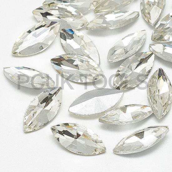 Foil-backed Glass Rhinestone Cabochon Crystals