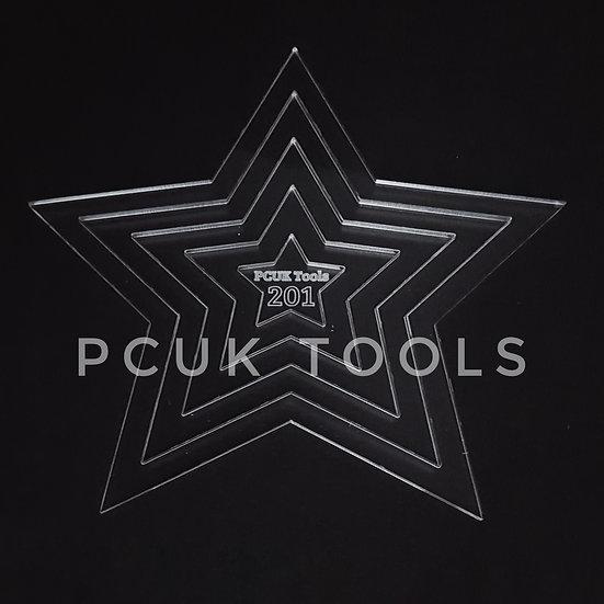 Staggered Stencil Star Acrylic Stencil/Template