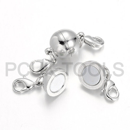 Magnetic Clasps with lobster claw attachments