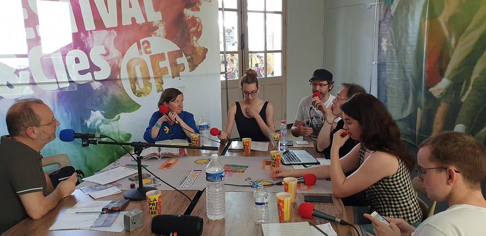 Animé par Emmanel Serafini avec Sophie Boret (Vaucluse Matin), Lola Salem et Pierre Lesquelen (I/O Gazette), Eléonore Kolar (Echo des Planches et L'Alchimie du verbe), Yannick Butel et Antonin Ménard (L'Insensé)