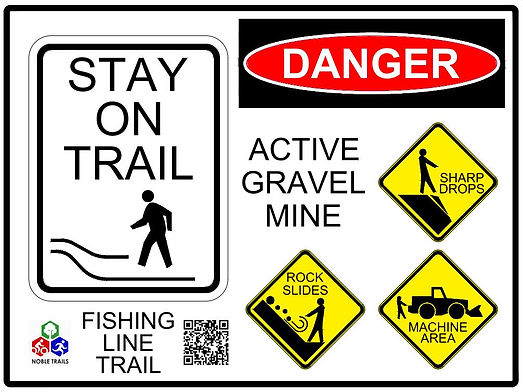 NT - SIGN - Z-R5-99 Stay On Trail Gravel