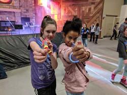 2 girls shooting