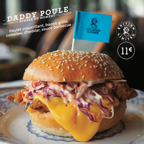 Burger Mamie Burger Daddy Poule