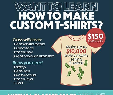 How to make a T-shirt: Virtual Class