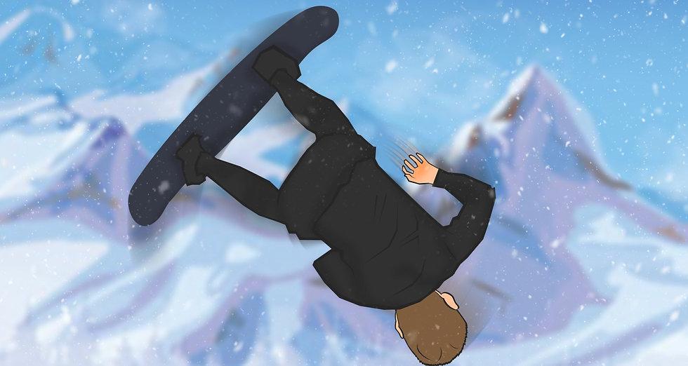 a snow boarder