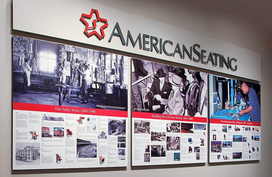 American Seating 125 Year History Instal