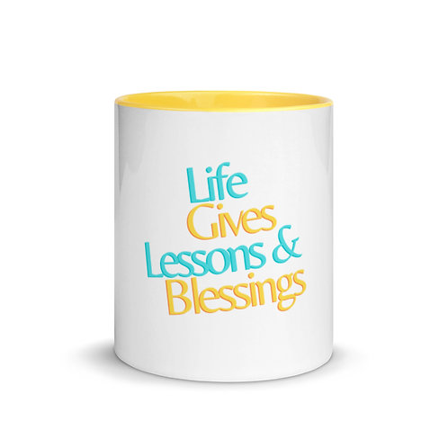 Lessons & Blessings Mug with Color Inside
