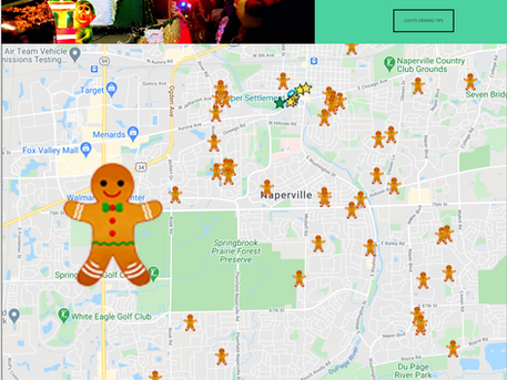 Naperville Christmas Lights Map!