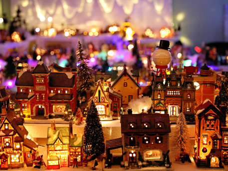 A Marvelous Christmas Village on Buttonwood Circle