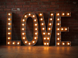 3ft LIGHT UP LETTERS