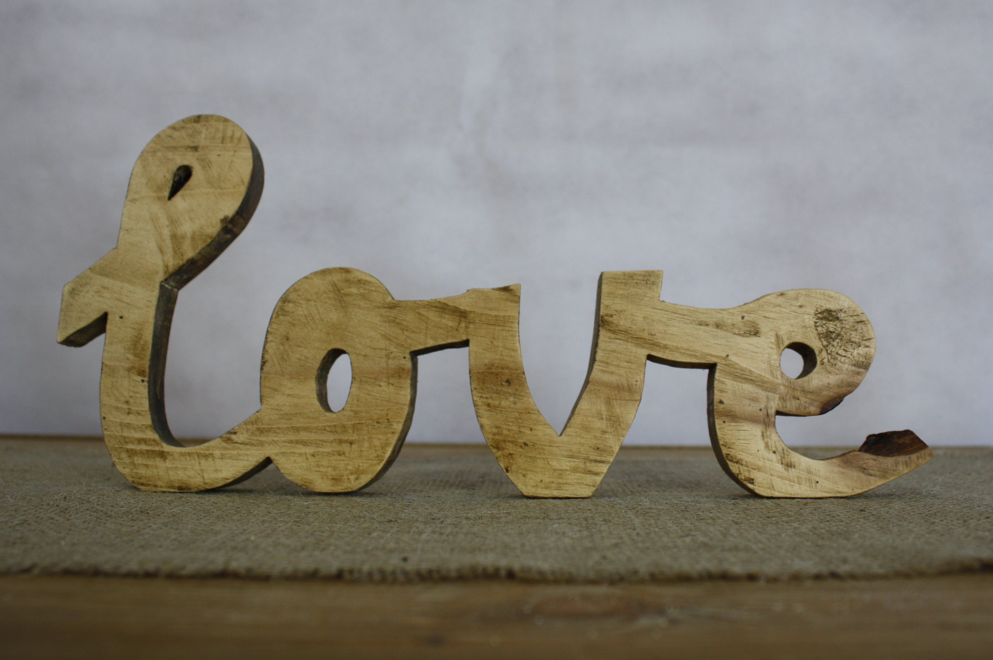 Small wooden love sign