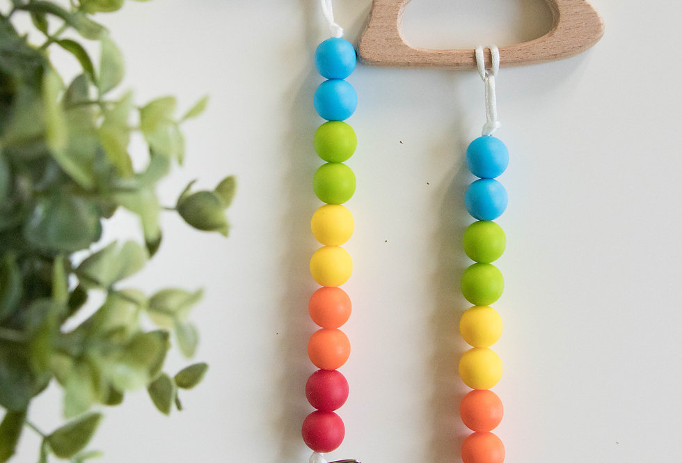 Pacifier Clip + Teether | Celebrate Pride!
