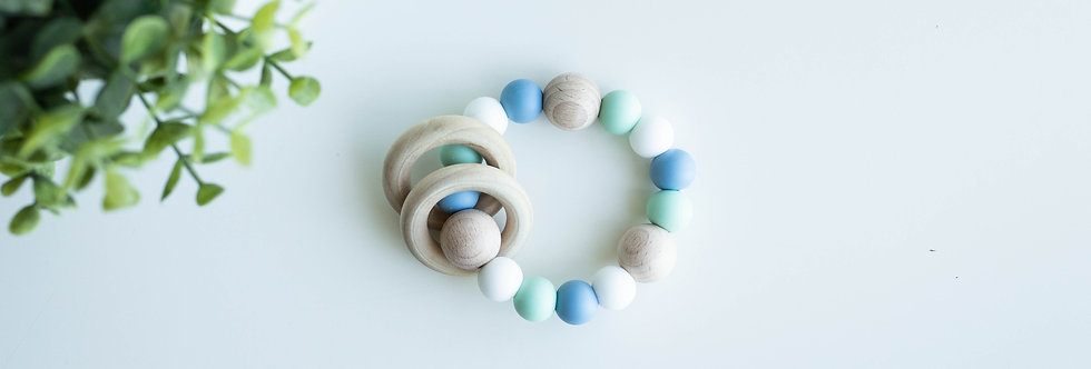 Teething Rattle | Muted Brumbly