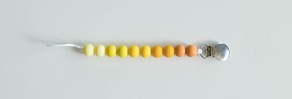 Pacifier Clip | Ombre Yellow