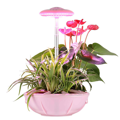UFO Plant Grow Light In Red