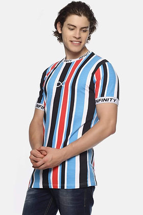 Infinity Multi Coloured Taped T-SHIRT High Quality