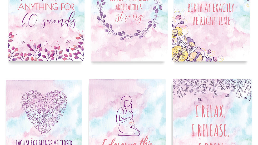 Positive Birth Affirmation Cards
