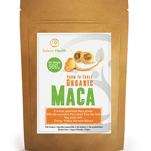 Organic Peruvian Maca - superfood 500g