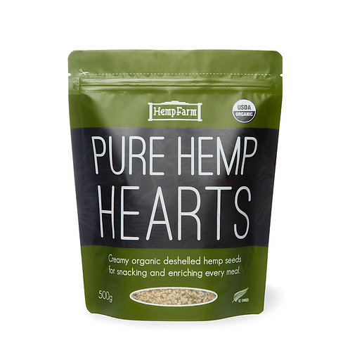 Organic Hulled Hemp Seed Hearts (500g)