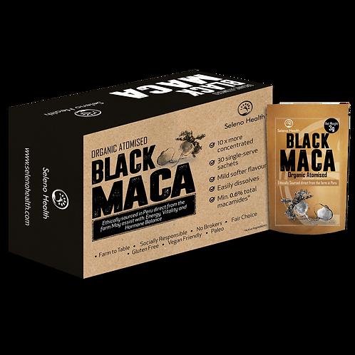 Organic Extracted Black Maca - 1 box of 6 single serve sachets