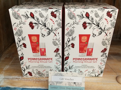 Weleda Pomegranate Morning Ritual Set - Body Wash & Deodorant