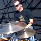 Brian on drums outside.jpg