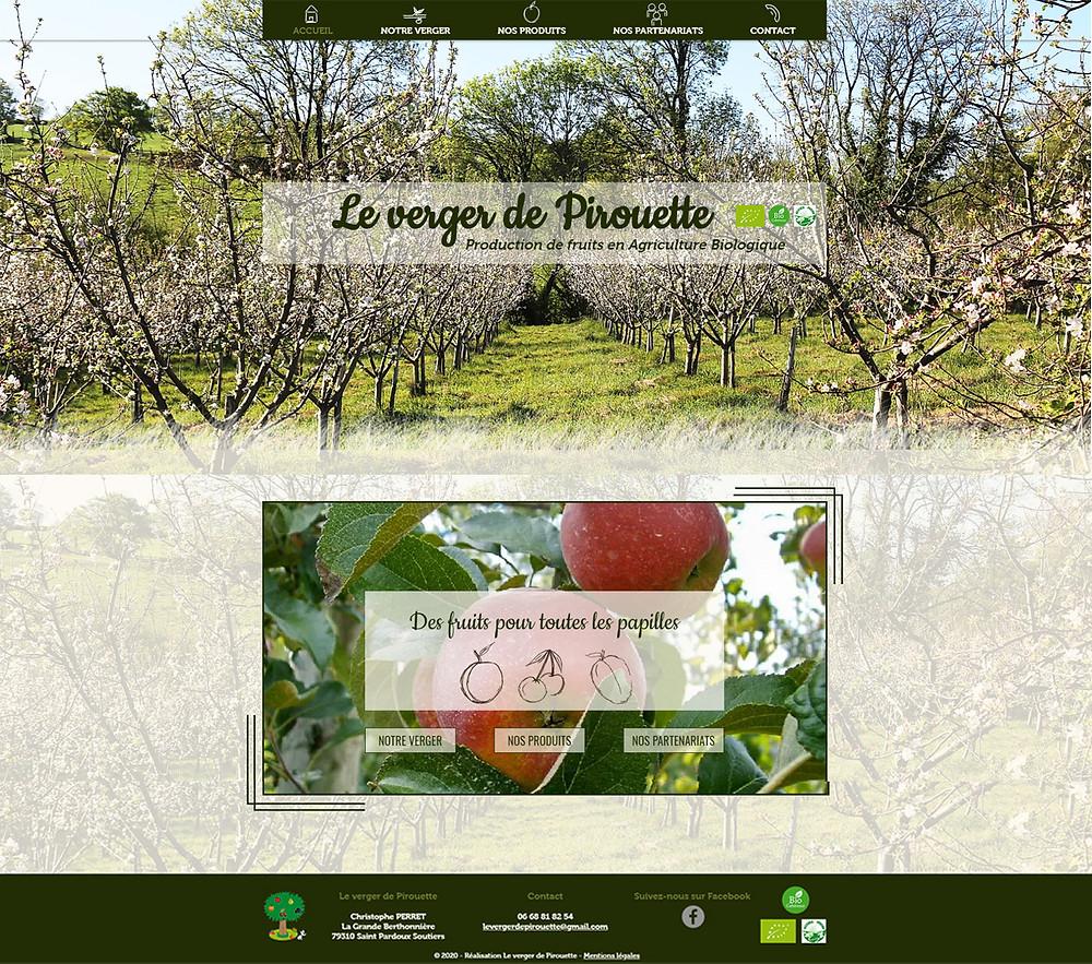 verger de pirouette site web pommes bio producteur
