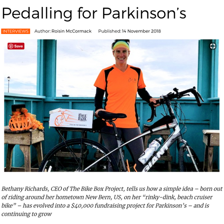 EU Parkinson's Life Features The Bike Box Project