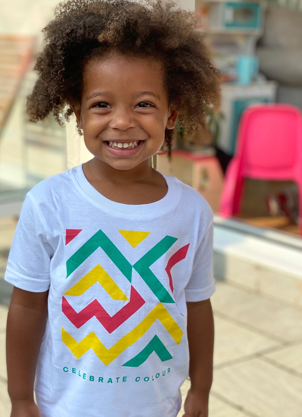 African-inspired-kids-bright-pattern-tshirt