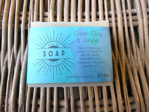 Green Clay & Juniper Soap