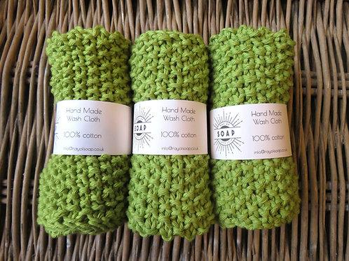 Hand Made Wash Cloth - Wasabi