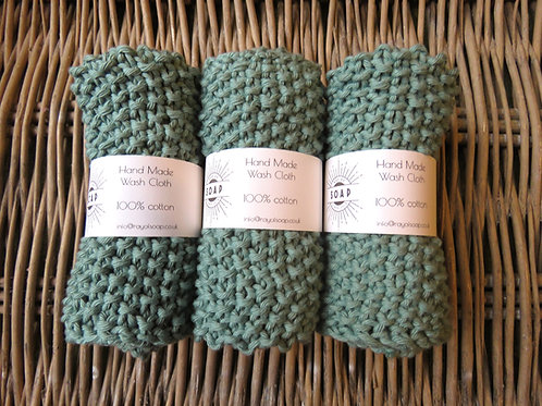 Hand Made Wash Cloth - Sage