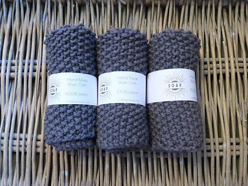 Hand Made Wash Cloth - Graphite