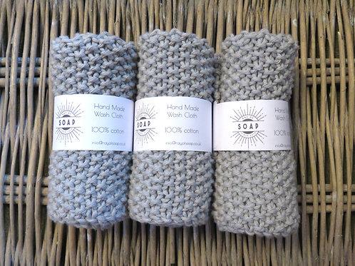 Hand Made Wash Cloth -Fog
