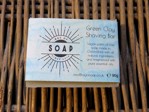 Green Clay Shaving Bar