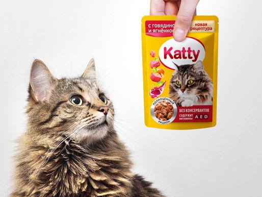 Товары для кошек Katty в новом дизайне от Twin Branding