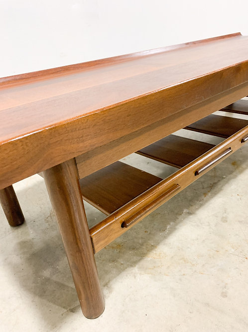 Lawrence Peabody Walnut bench table