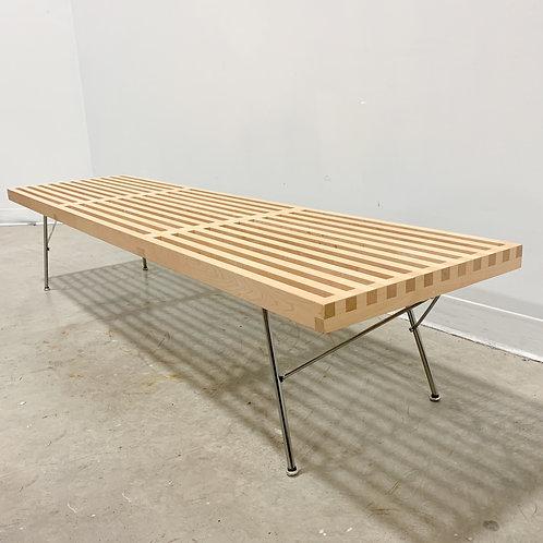 George Nelson Herman Miller Slat Bench with metal legs
